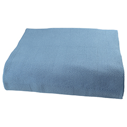 66 X 90 IMPORT SNAG FREE THERMAL BLANKET 3 LB  -- BLUE / CARTON PACKED 24 EA