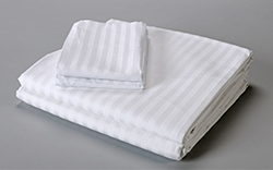 44 X 36 STANDARD X-WIDE PILLOWCASE ROYAL CREST T-310 SATIN STRIPE 60/40 BLEND COMBED COTTON - WHITE - CASE PACKED 6DZ